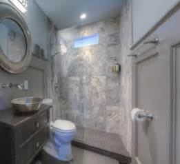 small bathroom with stone tile shower getty robert makeovers decobizz