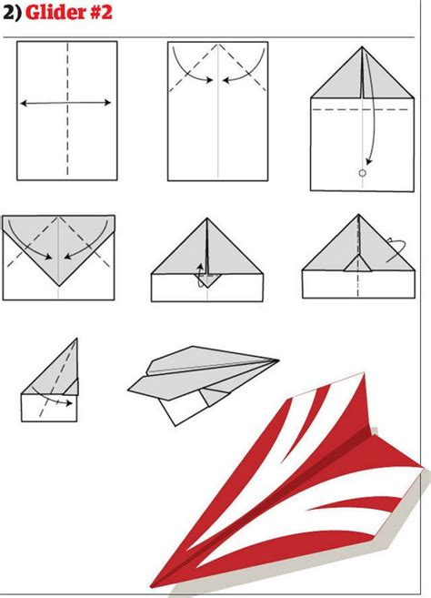 Folded Paper Airplanes - how to make cool paper planes step by step