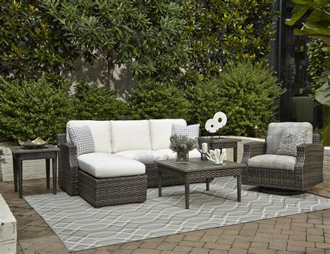 outdoor sectional sofa with chaise klaussner outdoor cascade outdoor sectional sofa with