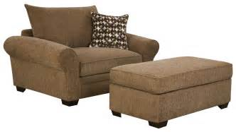 5460 large chair and a half ottoman set for casual styled living room comfort by