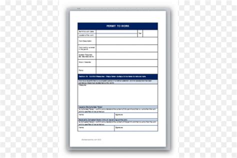 works permit template document template permit to work work permit computer