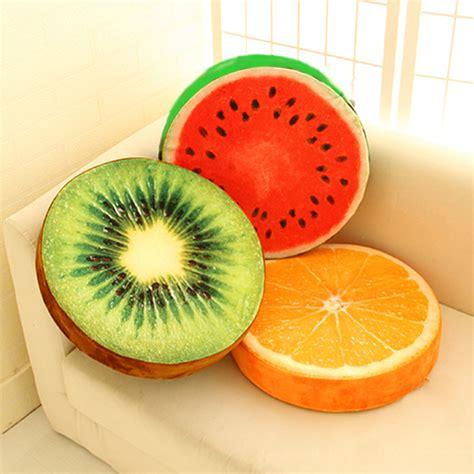 Sofa Fruit 3d fruit pillows plush watermelon kiwi sofa cushions