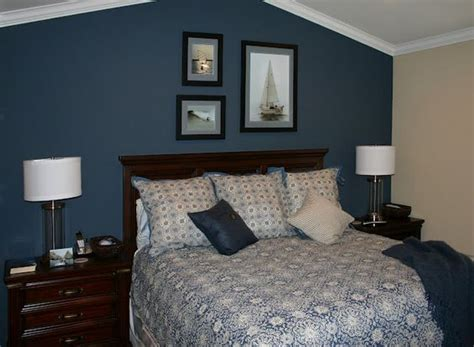 dark blue accent wall we could do this in our master for the home pinterest furniture