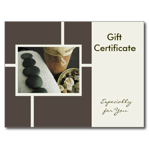 free printable gift certificate massage best photos of massage gift certificate template