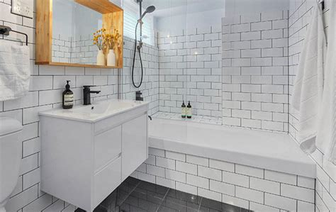 white subway tile black grout bathroomherpowerhustle herpowerhustle