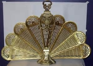 120425 brass fan shape fireplace screen lot 120425