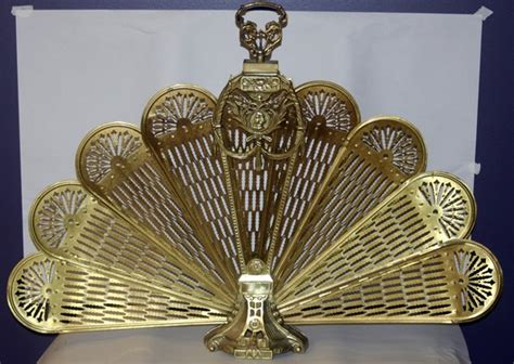 fan shaped fireplace screen 120425 brass fan shape fireplace screen lot 120425