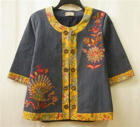 Jacket Wanita Parka Kanvas 2 denim jacket tiga negeri done kebaya and batik denim jackets black and jackets