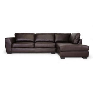 Baxton Studio Orland Brown Leather Modern Sectional Sofa | baxton studio orland brown leather modern sectional sofa