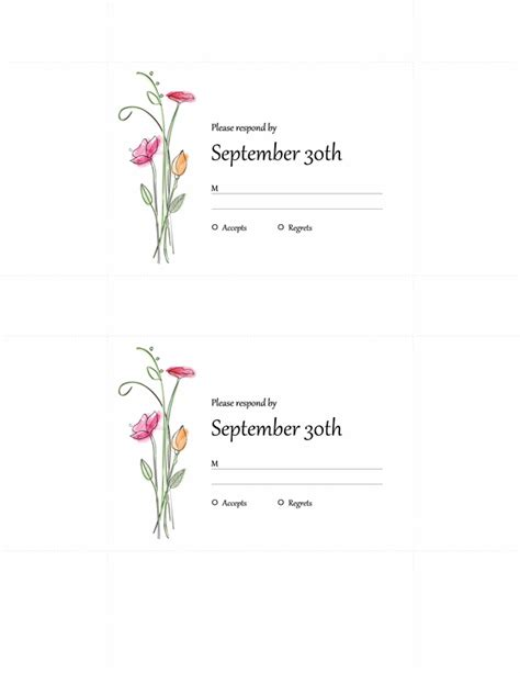 free blank rsvp card template word invitation templates invitation template