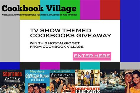 Tv Show Giveaways - cookbook village tv show cookbooks giveaway