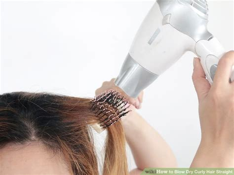 Hair Dryer To Straighten Curly Hair 3 ways to curly hair wikihow