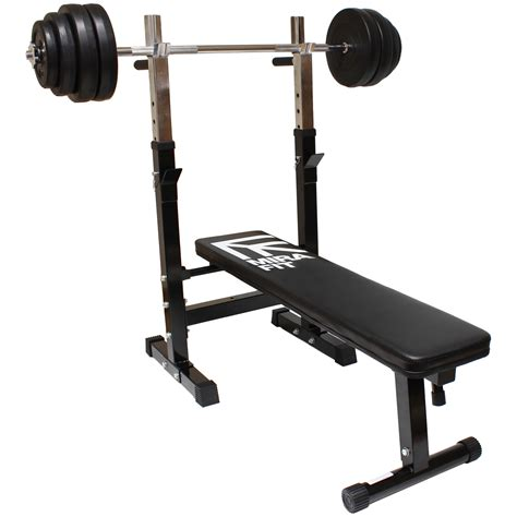 bench press station mirafit adjustable folding flat weight bench dip station