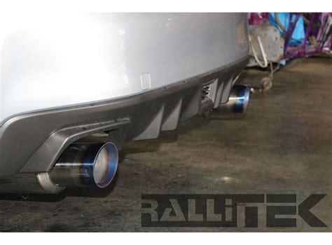 2009 subaru wrx exhaust invidia n1 catback exhaust titanium tips wrx sedan 2008
