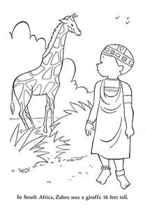 africa coloring pages south flag coloring pages