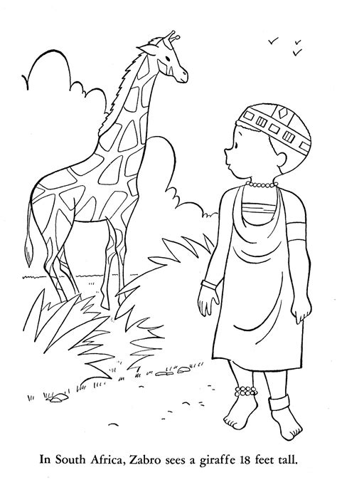 coloring page africa south flag coloring pages