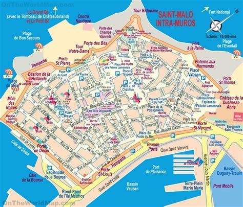 saint malo tourist map maps en  reiseziele  reisen