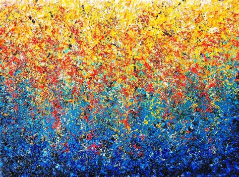 abstract garden by bingaman abstract garden impasto