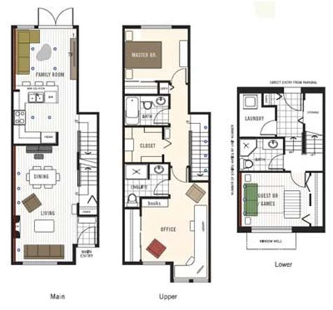 townhouse house plans 29 best townhouse floor plans images on pinterest floor