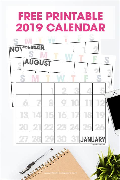 printable calendar  printable monthly calendar