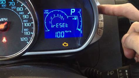 chevy cruze check engine light reset how to reset the oil life on a chevy spark youtube