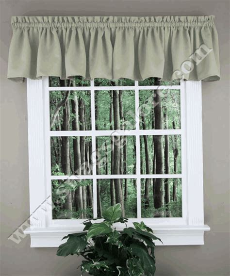 Swags Galore Valances Facets Tailored Valance Taupe Lorraine Curtains