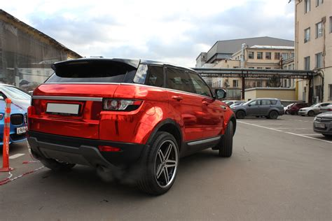 chrome range rover evoque range rover evoque gets the red chrome treatment in russia