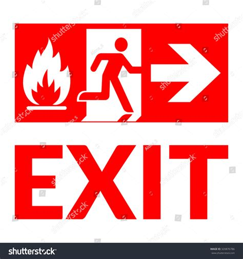 emergency exit icons door with arrow sign stock vector exit sign emergency fire exit door and exit door green