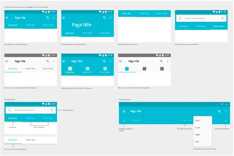 android tabs web design flowchart exles create a flowchart