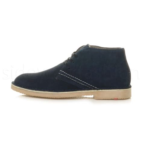 flat boot shoes mens lace up classic desert suede leather casual ankle