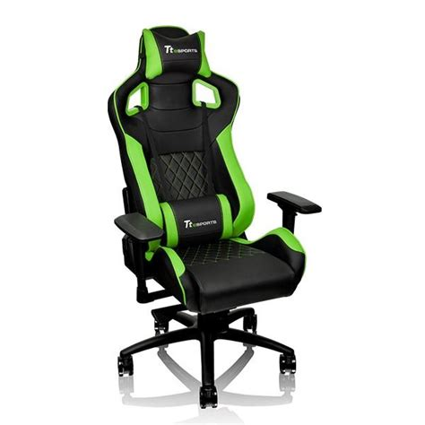 Green Gaming Chair by Thermaltake Gt Fit Series F100 Gaming Chair Black Green