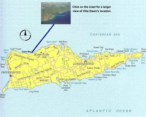map of croix villa st croix location on island