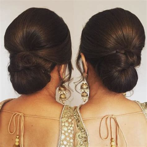 Indian Wedding Hairstyles For Hair On Saree by 12 Stunning Hair Buns And Judas To Wear With Sarees