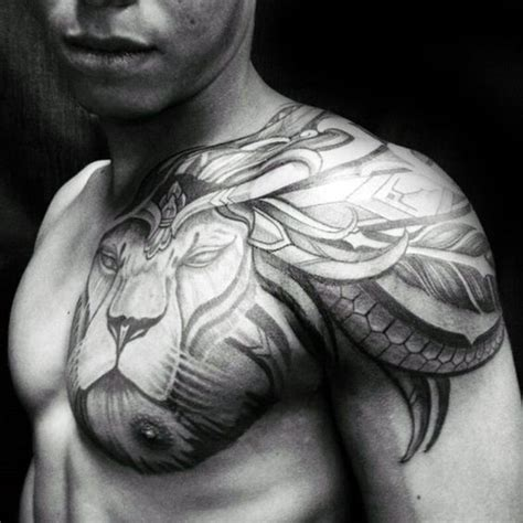 tribal lion shoulder tattoo tribal shoulder designs