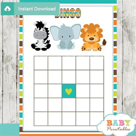jungle theme baby shower games package d134