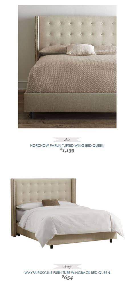 Horchow Beds by Copycatchicfind Horchow Parlin Tufted Wing Bed 1139 Vs Wayfair Skyline Tufted
