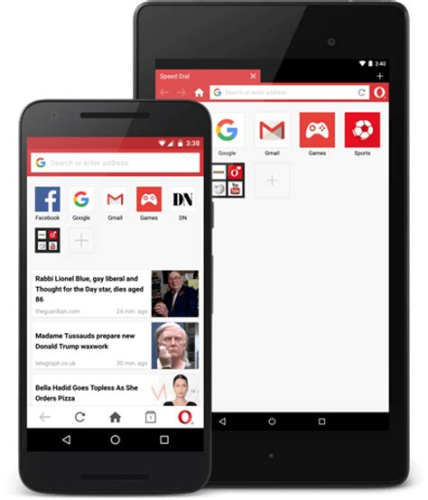 mini opera for android opera mini for android phone tablet opera