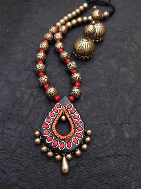 how to do amazing jewellery designing with terracotta at