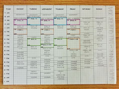 study planner template studyforwhatmatters updated study schedule study