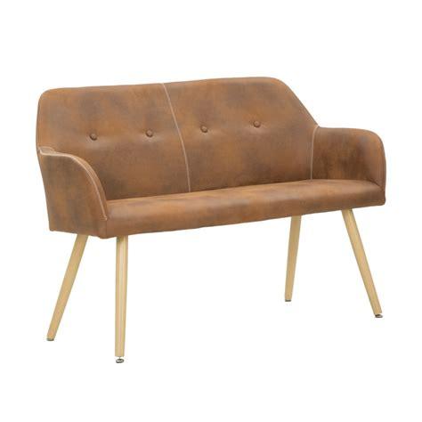 divanetto vintage divanetto due posti in ecopelle e legno stile vintage cm