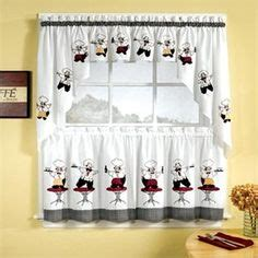 chef curtains for kitchen 1000 images about fat chef kitchen decor on
