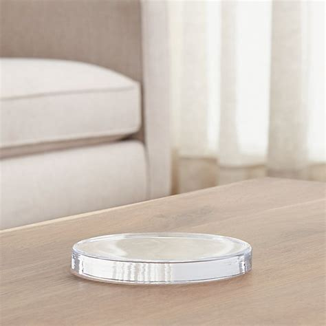 Large Candle Plate by Large Glass Candle Plate Coaster Crate And Barrel