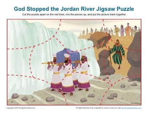 free printable bible jigsaw puzzles jordans activities and rivers on pinterest