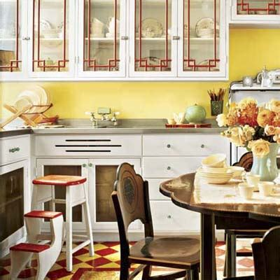 vintage style kitchen a vintage look in cheery colors create a colorful