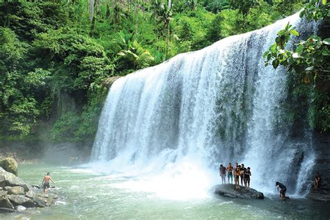 drapery falls cawan curtain falls davao region s widest waterfall