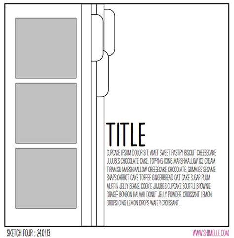 scrapbook layout sketches pinterest 90 best becky higgins sketches images on pinterest