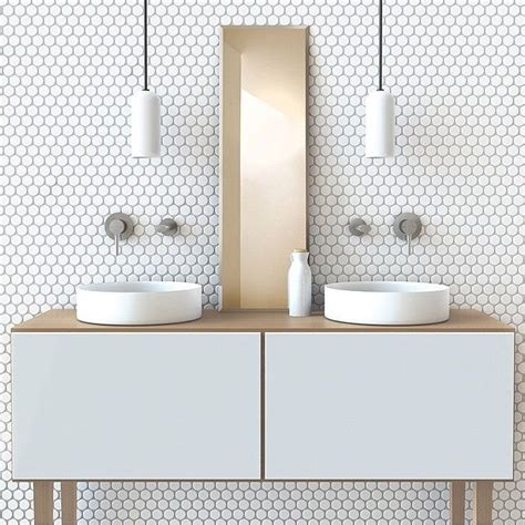 White Mosaic Bathroom Tiles by Best 25 White Mosaic Bathroom Ideas On White