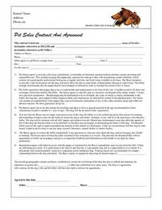 puppy sales contract in word and pdf formats