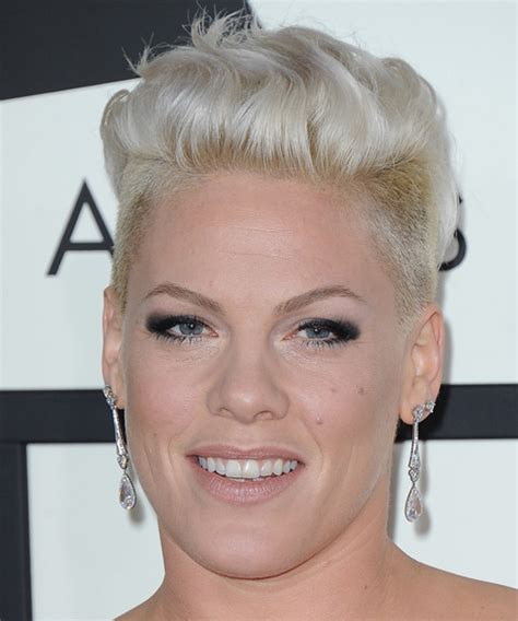 Pink Short Straight Casual Undercut Hairstyle   Light