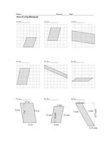 worksheet on area of parallelogram images